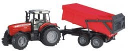 Bruder MF 7480 with Tipping Trailer Toy