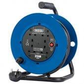 Draper 230V Four Socket Industrial Cable Reel (25M)