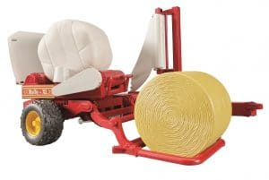 Bale Wrapper with round bales toy