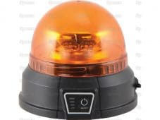 LED Rechargeable Beacon (Amber), CISPR 25: Class 5, Magnetic, 12-24V