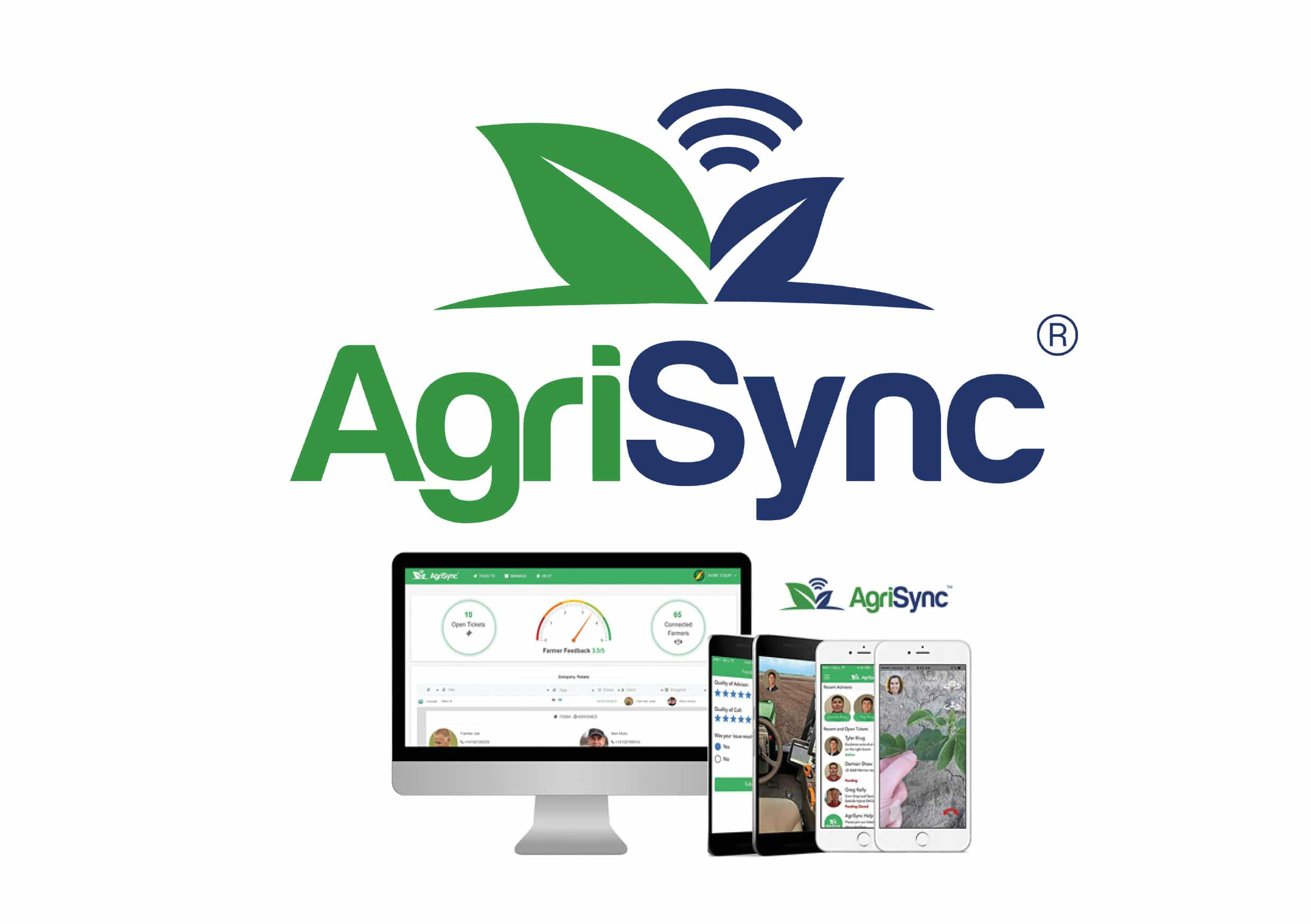 AgriSync App being displayed on multiple devices